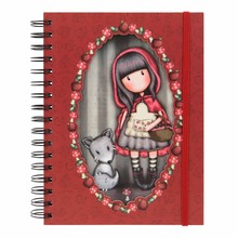 Gorjuss Little Red Riding Hood Double Cover Wirobound Journal (816GJ03)