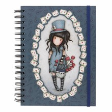 Gorjuss The Hatter Double Cover Wirobound Journal (816GJ04)