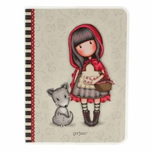 Gorjuss Little Red Riding Hood Frosted Cover A6 Notebook (808GJ03)
