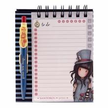 Gorjuss The Hatter Standing Memo Pad With Pen (823GJ02)