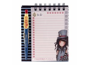 Gorjuss The Hatter Standing Memo Pad With Pen (823GJ02)