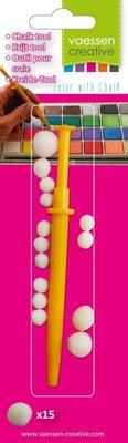 Vaessen Creative Chalk Tool + 15 Pom-Poms (3014-005)