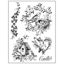 Stamperia Natural Rubber Stamps Nests (WTKCC63)
