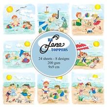 By Lene Toppers 9x9cm Summer Kids (BLT007)