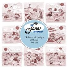 By Lene Toppers 9x9cm Summer Kids Sepia (BLT008)