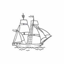 Couture Creations Tall Ship Mini Clear Stamp (CO726156)