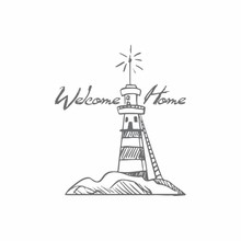 Couture Creations Welcome Lighthouse Mini Clear Stamp (CO726159)
