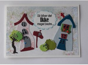 By Lene Clear Stamps Crooked Houses 1 (BLS1063)