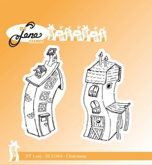 By Lene Clear Stamps Crooked Houses 2 (BLS1064)