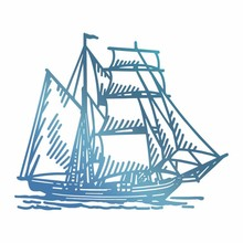 Couture Creations Hot Foil Stamp Tall Ship (CO726179)