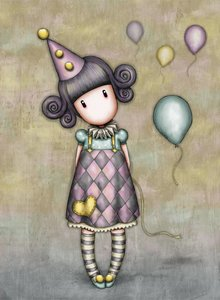 Gorjuss Pierrot Doll Greeting Card (ES328)
