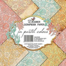 Decorer In Pastel Colors , 8x8 Inch Paper Pack (B15-414)