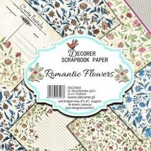 Decorer Romantic Flowers , 8x8 Inch Paper Pack (B16-403)