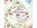 Decorer Peony , 8x8 Inch Paper Pack (B18-418)