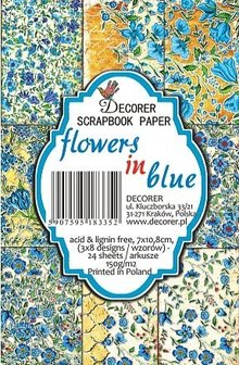 Decorer Flowers in Blue Paper Pack (7x10,8cm) (M39)