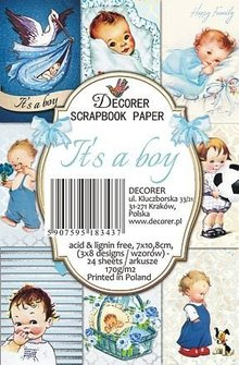 Decorer It's a Boy Paper Pack (7x10,8cm) (M50)