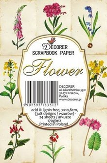 Decorer Flower Paper Pack (7x10,8cm) (M54)