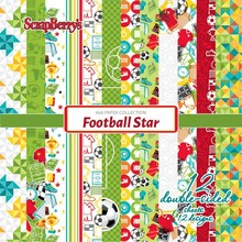 ScrapBerry's Football Star 6x6 Inch Paper Pack (SCB220611309X)