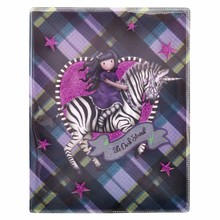 Gorjuss Tartan The Dark Streak Glitter Notebook (742GJ04)