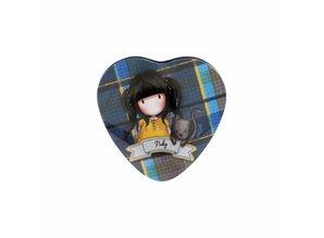 Gorjuss Tartan Ruby Heart Shaped Tin (828GJ01)