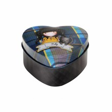 Gorjuss Tartan Ruby Heart Shaped Tin (828GJ01)