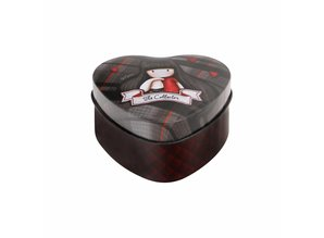 Gorjuss Tartan The Collector Heart Shaped Tin (828GJ02)