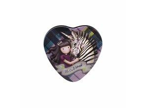 Gorjuss Tartan The Dark Streak Heart Shaped Tin (828GJ03)