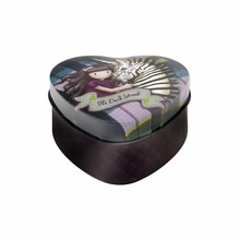 Gorjuss Tartan The Dark Streak Heart Shaped Tin (828GJ03)