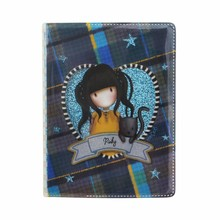 Gorjuss Tartan Ruby Mini Glitter Notebook (843GJ01)