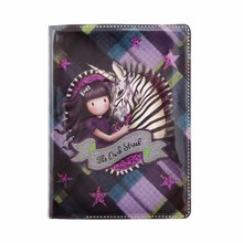 Gorjuss Tartan The Dark Streak Mini Glitter Notebook (843GJ03)