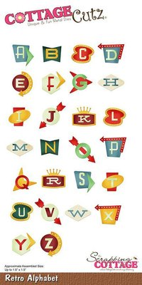 Scrapping Cottage CottageCutz Retro Alphabet (CC-475)