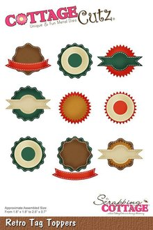 Scrapping Cottage CottageCutz Retro Tag Toppers (CC-476)