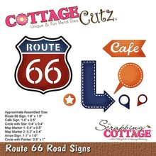 Scrapping Cottage CottageCutz Route 66 Road Signs (CC-477)