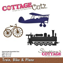 Scrapping Cottage CottageCutz Train, Bike & Plane (CC-479)