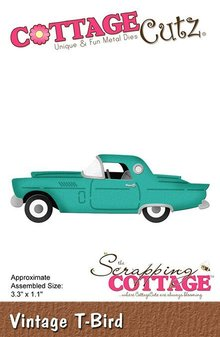 Scrapping Cottage CottageCutz Vintage T-Bird (CC-481)