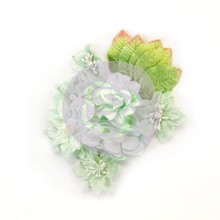 Prima Marketing Inc Santa Baby Mulberry Paper Flowers Frosted Mint (597344)