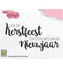 Nellie Snellen Kerstfeest Nieuwejaar Clear Stamps (DTCS022)