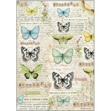 Stamperia Rice Paper A4 Butterfly (DFSA4178)
