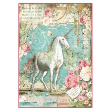 Stamperia Rice Paper A4 Wonderland Unicorn (DFSA4271)