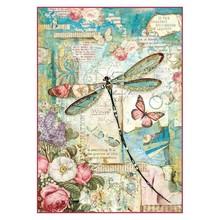 Stamperia Rice Paper A4 Wonderland Dragonfly (DFSA4309)
