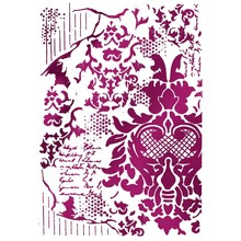 Stamperia Masking Stencil A4 Decoration with Writing (KSG405)