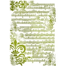 Stamperia Masking Stencil A4 Musical Notes (KSG409)