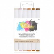 Artiste Dual Tip Illustration Markers Portrait (DOA 851401)