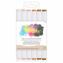 Artiste Dual Tip Illustration Markers Primary (DOA 851402)