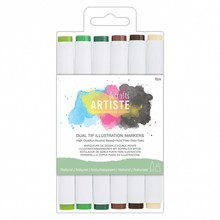 Artiste Dual Tip Illustration Markers Natural (DOA 851404)