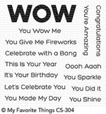 My Favorite Things You Wow Me Clear Stamps (CS-304)