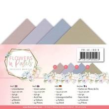 Precious Marieke Flowers In Pastels Linnenpakket 13,5 x 27 cm (PM-4K-10019)