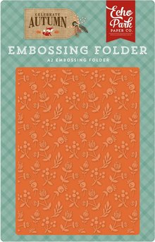 Echo Park Celebrate Autumn Autumn Florals 12,7x14,9 cm Embossing Folder (CAU158031)
