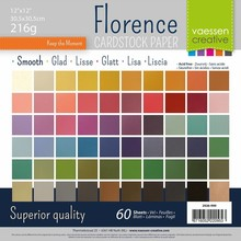 Vaessen Creative Florance Cardstock Glad Assortment 12x12 Inch (2926-999)