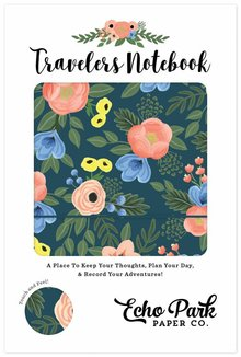 Echo Park Travelers Notebook Navy Floral (TN1006)